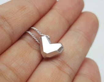 Valentine's Gift Personalized Necklace Valentines Day Gift for Wife Mom Gift Girlfriend Gift for Her Love Heart Sterling Silver Jewelry