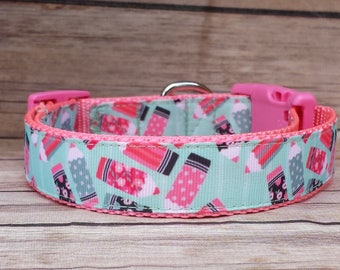 Back to School Dog Collar / Pencils Dog Collar / Teacher Dog Gift / Teacher's Pet Collar / Girl Dog Collar / Cute Dog Collar / Preppy Collar