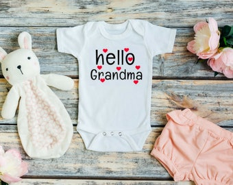 Pregnancy reveal to grandma - Hello grandma announcement - Grandma baby announcement - Grandma baby shower gift -  Grandma baby reveal