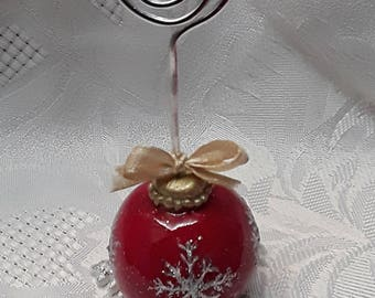 SPECIAL - Christmas Marque up sequined ornament sold individually or in sets