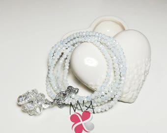 White Bonbon Bracelet