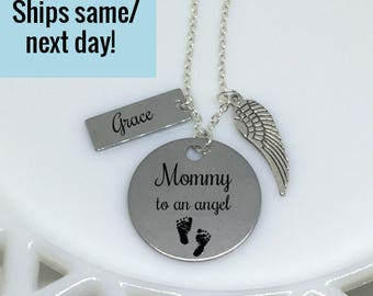 Miscarriage Jewelry, Mommy of an Angel, Memorial Jewelry, Memorial Necklace, Miscarriage Necklace, Memorial Pendant, Loss of a Child