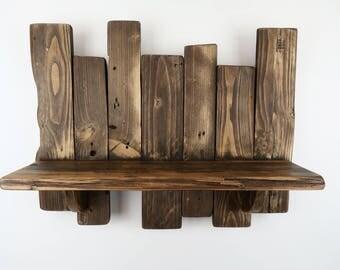 Pallet Shelf Rustic Shelf Reclaimed Wood Shelves Shabby Chic Shelf