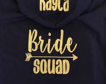 Bridesmaid Hoodie, Bridesmaid Jacket, Bridal Party Hoodies, Bride Tribe, Bachelorette Party Sweatshirts,Bride Jacket, Bride Hoodie, Squad