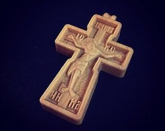 Orthodox hornbeam cross #2