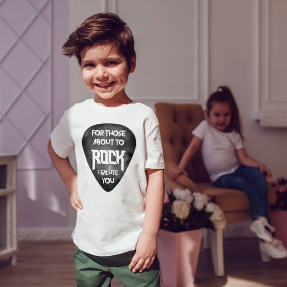 ACDC: For those about to rock I salute you| Unisex kids T-shirt | American apparel for children and toddlers | Rock music lyrics