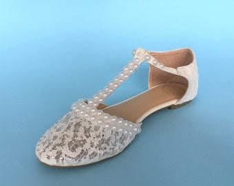 Lace wedding shoes for bride, Wedding flats shoes wedding, Custom wedding flats  for bride, Custom bridal flats Bridesmaid flats for wedding