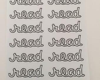 Script Reading Planner Stickers By Just Juliana Shop