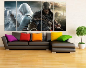 Assassin's creed Canvas Print, Game and Movie Framed Wall Art, Video Game Poster, Hand Made in Europe for Home and Office_LC090
