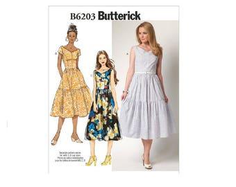 Butterick 6203 - Misses' V-Neck Dresses