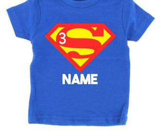 Superman Toddler Birthday Shirt // Superman Youth Shirt // Superhero Birthday Shirt// Birthday Party Shirt