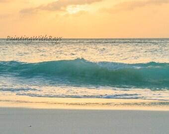 Ocean golden sunset, digital download, fine art, photography, Large prints