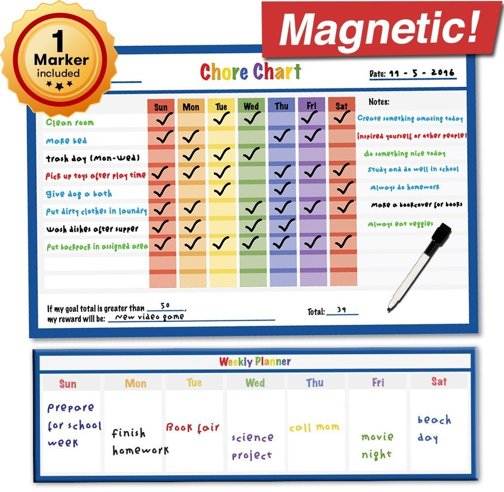 Magnetic Behavior Reward Chore Chart For Kids And Teens Dry