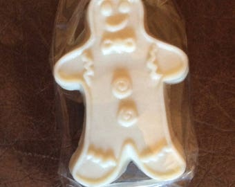 Jolly Gingery Natural Handmade Gingerbread Man Soap