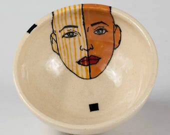 Unique Pottery Bowl, Handmade Ceramic Modern Bowl, Pottery bowl, Handthrown pottery bowl