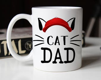 Cat Dad, Cat lover Gift, Cat Dad Mug, Cat Mug, Crazy Cat Dad, Cat Dad Gift, Pet owner gift, Funny Cat Mug, Cat Owner, Fur Dad, Pet Dad
