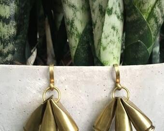 Brass Bullet Ear Weights .50 Caliber Casing Shell Earrings Punk Hunter Gun Lover Stretched Ears Bangin Jewelry