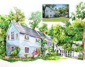 Custom Watercolor Home Portraits, housewarming, first anniversary, first home