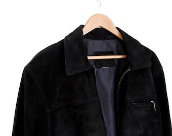 Vintage Black Suede Jacket