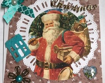 Christmas card Santa Claus is ready
