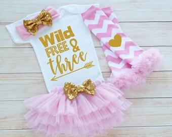3rd Birthday Girl Outfit, Third Birthday Outfit Girl, 3rd Birthday Outfit, Birthday Gift, Third Birthday Girl Shirt, 3rd Birthday Bodysuit