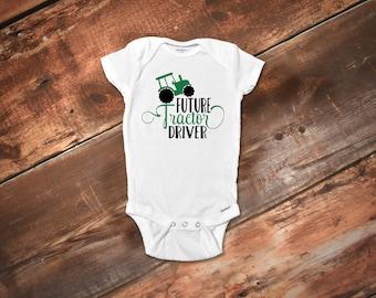 Farm Tractor Onesies®,Farm Onesies®, Farm Baby Clothes, Baby Boy Clothes, Baby Girl Clothes, Baby Shower Gift, Cute Onesies®, Tractor Shirt