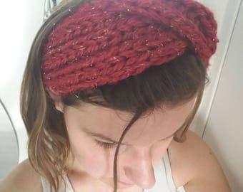 This flower hair accessory - hair band - Carmine