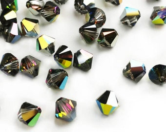 10 pcs 5328 6mm Genuine Swarovski® XILION Bead in Paradise Shine (Pack of 50 also available)