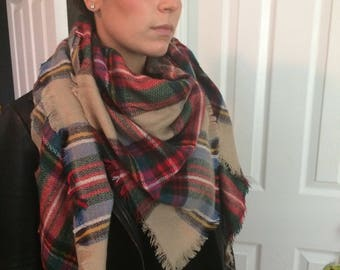 Classic Plaid Scarf Unisex Most popular selling,Plaid Blanket Scarf,Cotton Blanket scarf, Plaid Scarf, Blanket plaid scarf, Trendy