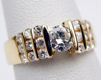14k gold diamond engagement ring #10210