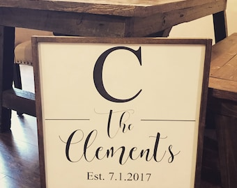 Large Wedding Gift Wooden Sign| Farmhouse Sign | Wedding Gift