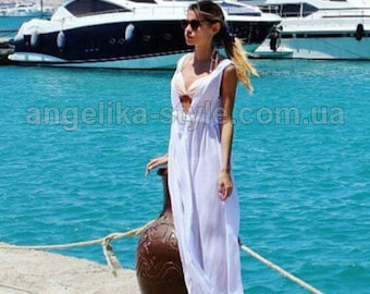 Chiffon Tunic, resort wear, Kaftan, Maxi dress, Beach Cover up , swim cover, beach dress, Beach Tunic, caftan, Gift for women