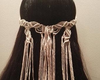 """Boho Macrame Hair Wrap """"Mastiha Tree Series"""""""