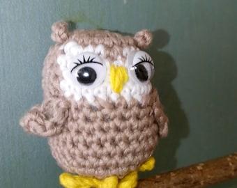 Crocheted owl. Amigurumi.