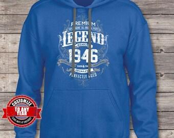 Premium Legend Since 1946, 71st birthday, 71st birthday gifts for men, 71st birthday gift, 71st Birthday hoodie, gift for 71st