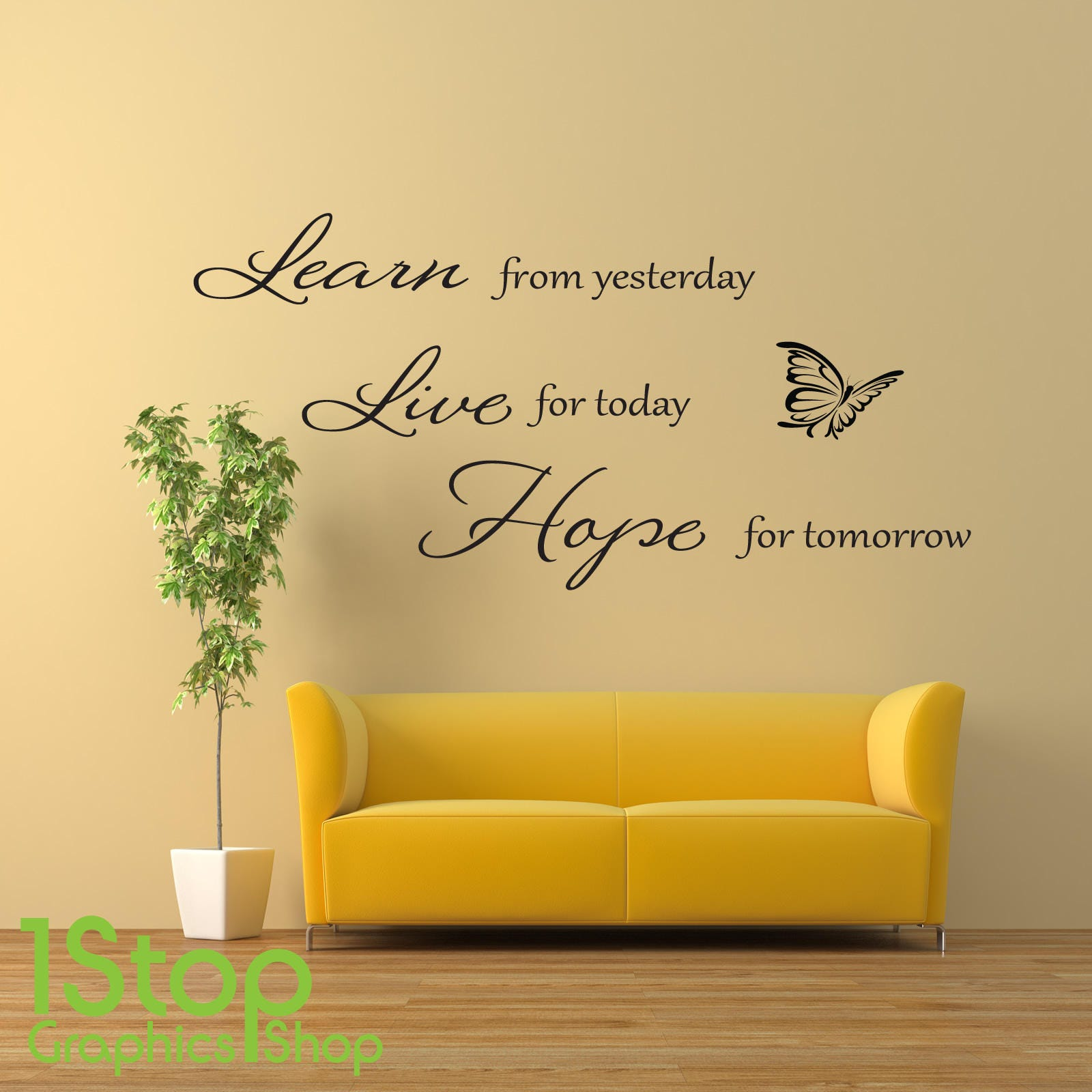 Learn Live Hope Wall Sticker Quote - Home Lounge Wall Art Decal X107 ...