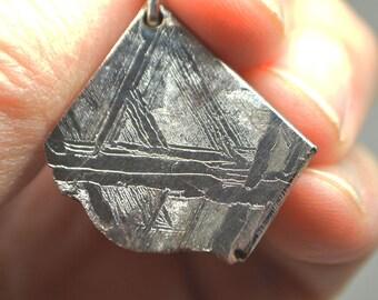 Meteorite  Seymchan Rare Pendant, 25 х 22 х 3 mm, 11 g