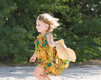 Girls Summer Dress / Toddler Dress / Girls Sun Dress /  Girls Twirly Dress / Twirl Dress / 3Y only