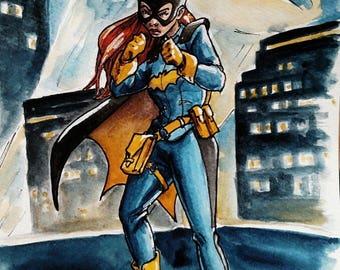 Batgirl Cafe Sketch