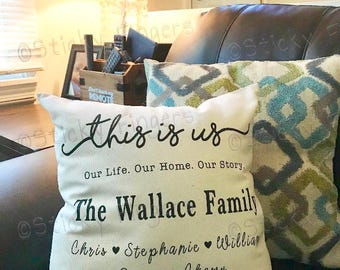 This is Us Personalized Family Pillow