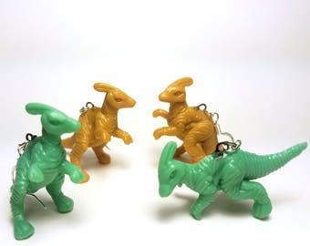 Parasaurolophus Dinosaur Earrings