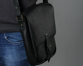 men's briefcase / women's briefcase / black briefcase / leather briefcase