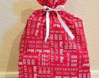 Red HO HO HO Gift Bag