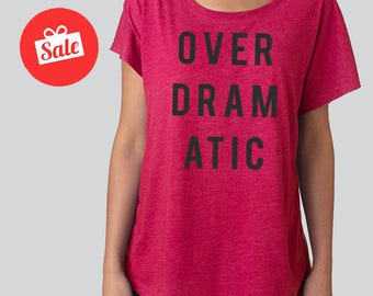 Over Dramatic Slouchy Dolman Shirt. Off the Shoulder Shirt. Funny Shirt