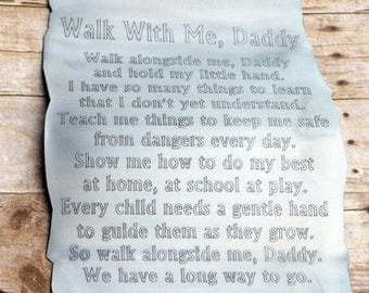Walk with me Daddy Scroll