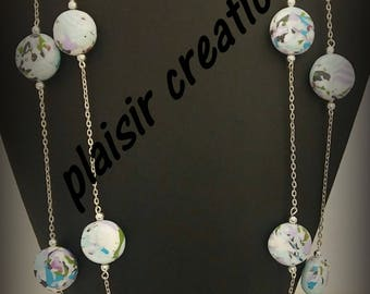 double necklace polymer clay