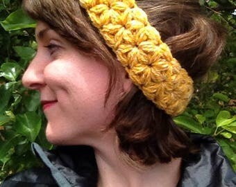 Flower Earwarmer or Headband - Choose your color!