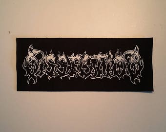 Dissection LONG patch black metal