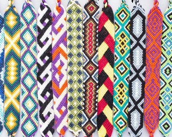 Wide Flat Friendship Bracelets