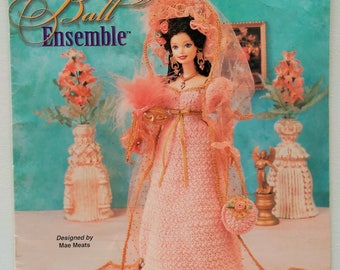 Vintage Annie's Attic Crochet Masquerade Ball Ensemble Designed By Mae Meats Costume Pattern 871019